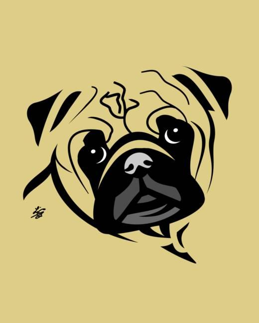 Stylized Pug Art