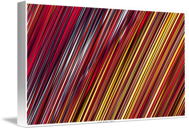 Striped Line Rain of Reds and Yellows