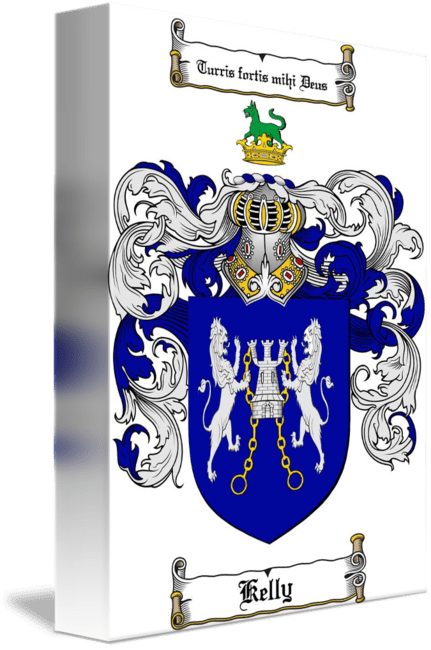 KELLY FAMILY CREST  COAT OF ARMS by Family Crest