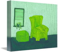 Old Green Chair by Jennifer Woodworth