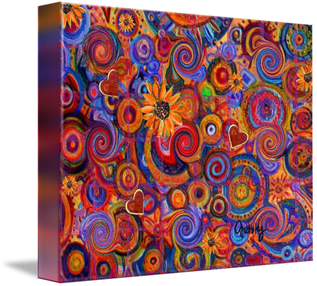 abstract sunflower hearts by