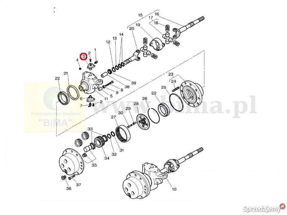 Sworzeń przegubu BIMA5029 części do traktorów Case IH MX