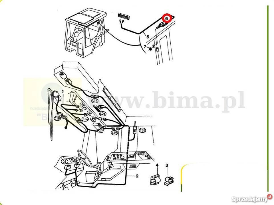 Czujnik hamulca ręcznego BIMA6275 MF Massey Ferguson 3630
