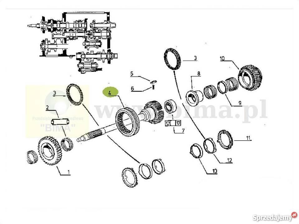 Przesuwka rewersu synchronizatora Renault Temis 650