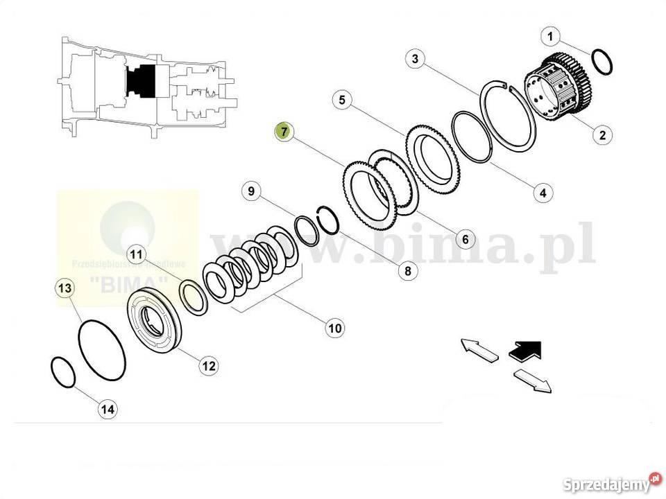 Przekładka tarczy rewersu BIMA5094 Renault CLAAS Arion 620