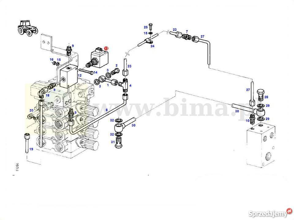 Zawór elektromagnetyczny przedni napęd Fendt GT 390,395