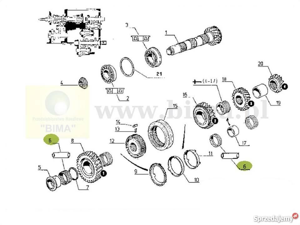 Łożysko igiełkowe skrzyni biegów BIMA5026 Renault 103-54