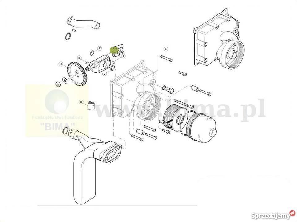 Pompa hydrauliczna hydrauliki BIMA5348 Renault CLAAS Ares