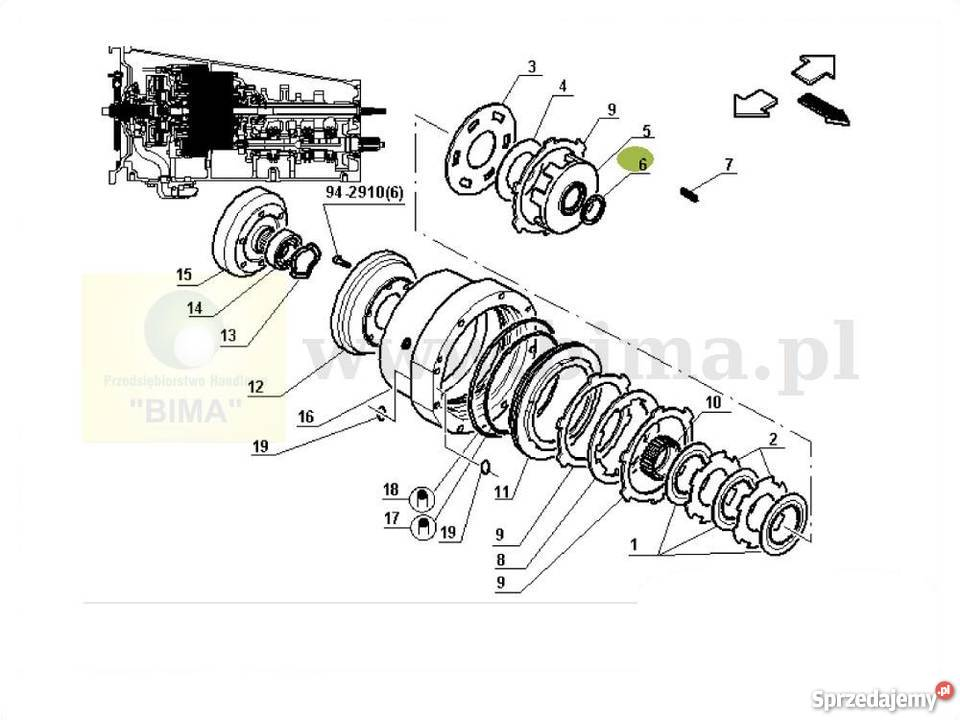 Podkładka oryginał BIMA5092 Renault CLAAS Axion 840,850