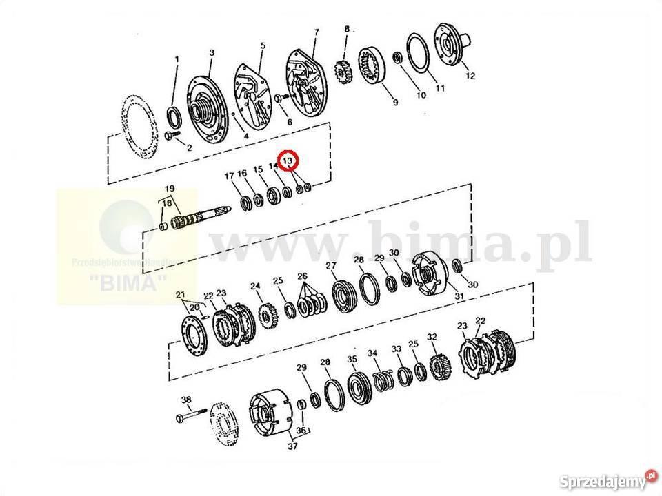 Pierścień zabezpieczający BIMA5076 John Deere 1035,1635