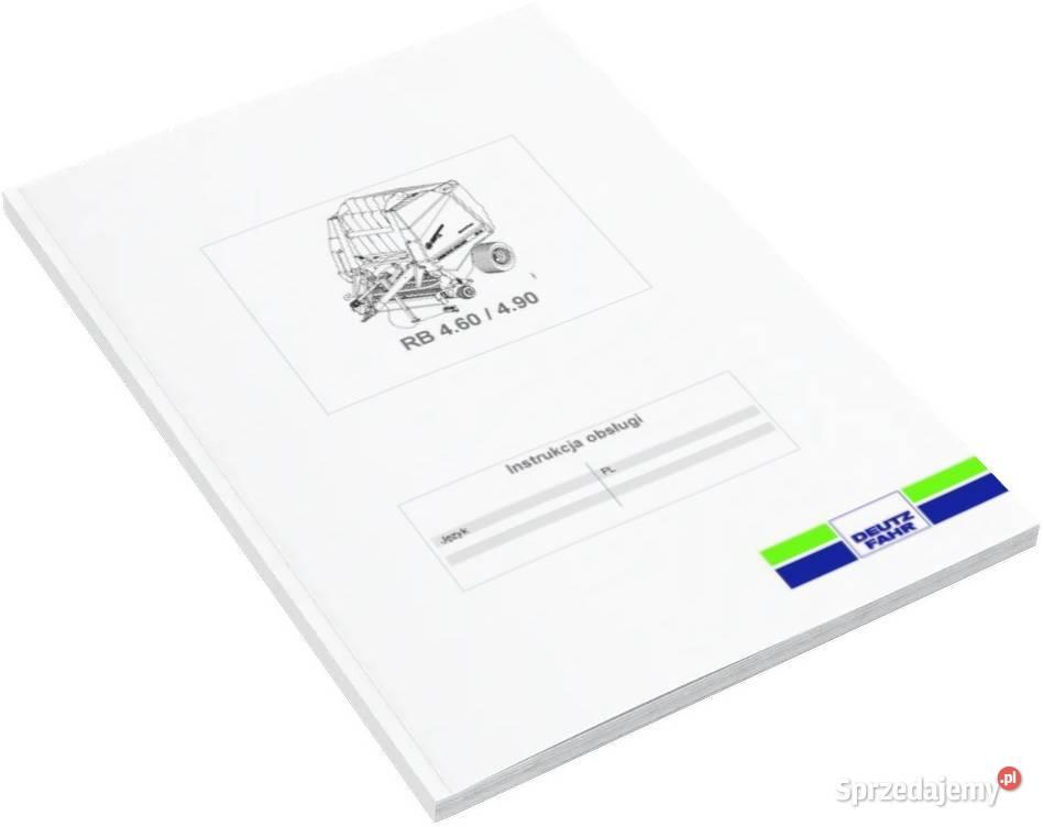 Instrukcja obsługi Deutz Fahr RB 4.60 4.90 Szamotuły