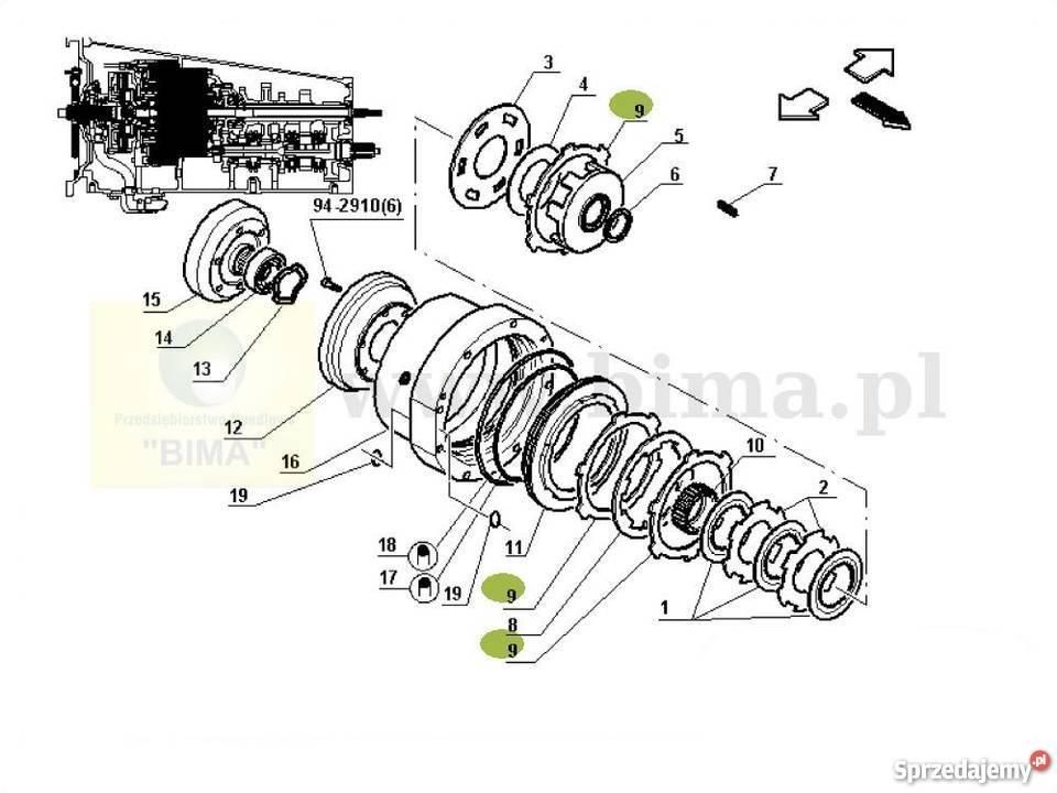Tarcza cierna quadrishift Renault CLAAS Arion 520,530,540