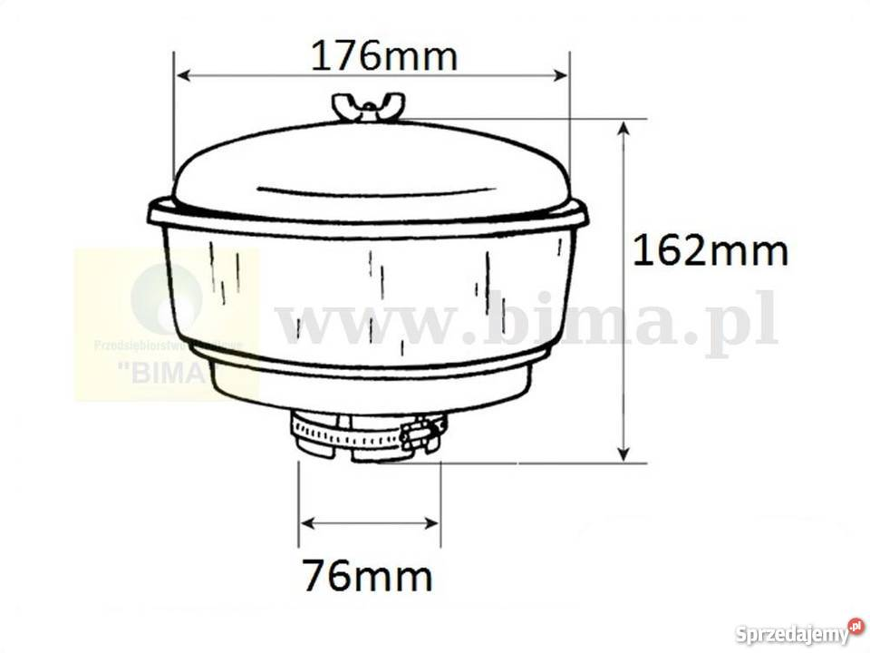 Filtr wstępny powietrza BIMA124 Deutz Fahr D6806,D6807