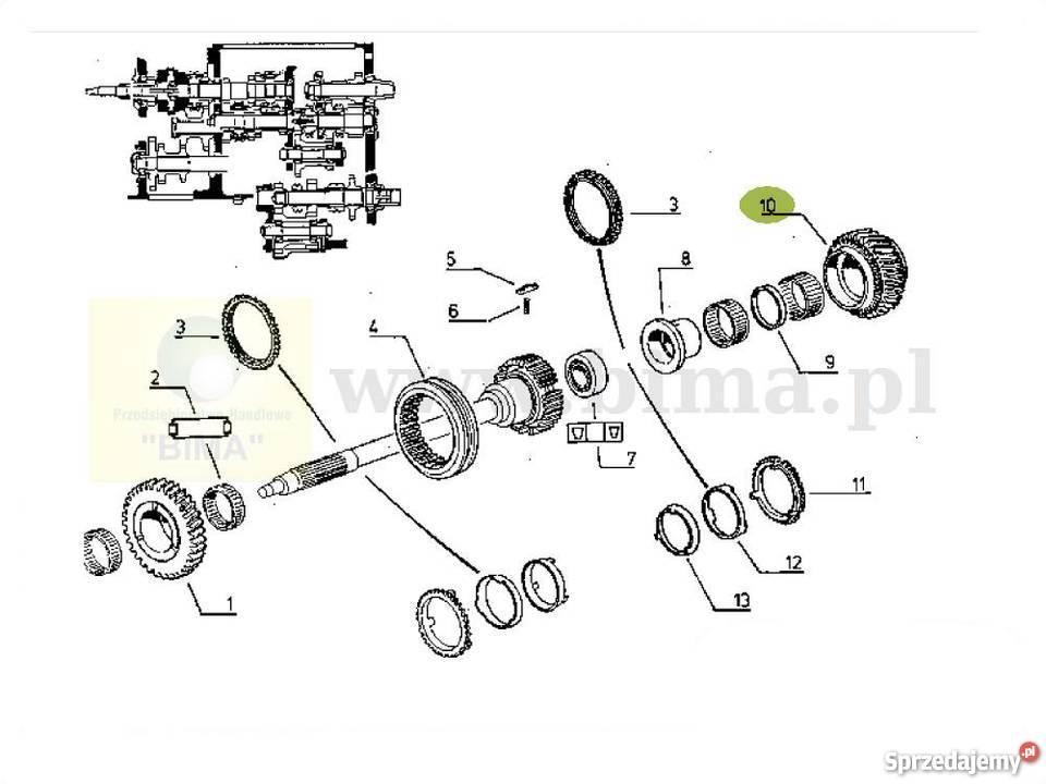 Koło zębate tryb rewersu oryginał BIMA5041 Renault 110-14