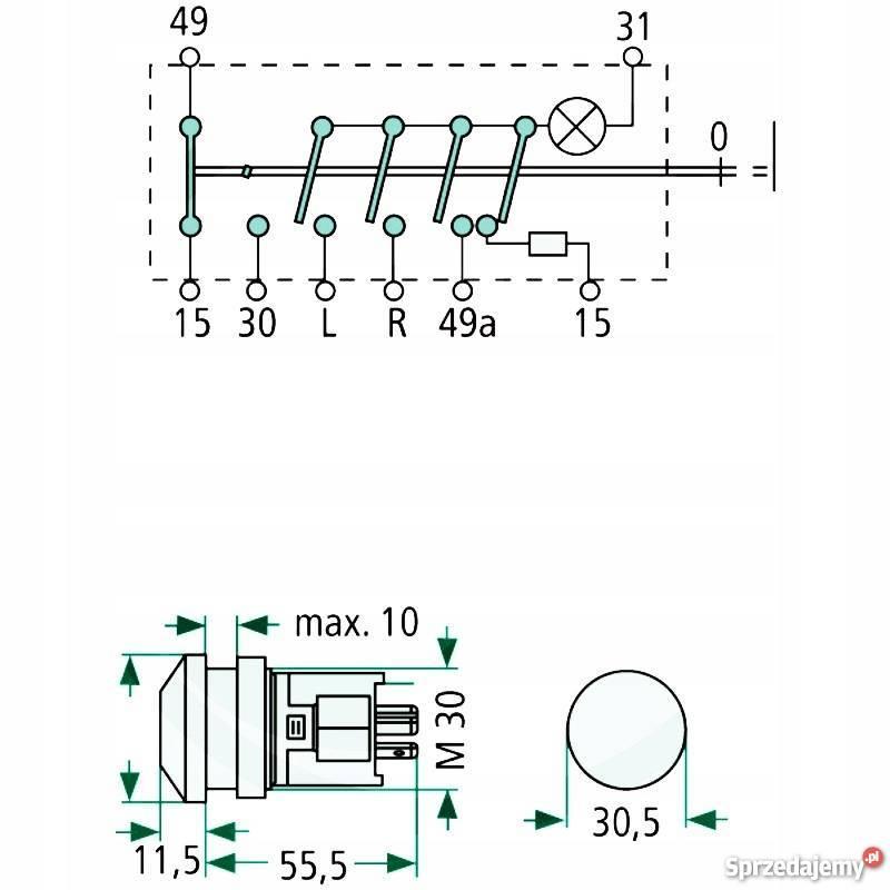 Włącznik świateł awaryjnych HELLA nr CNH 5122659 Przasnysz