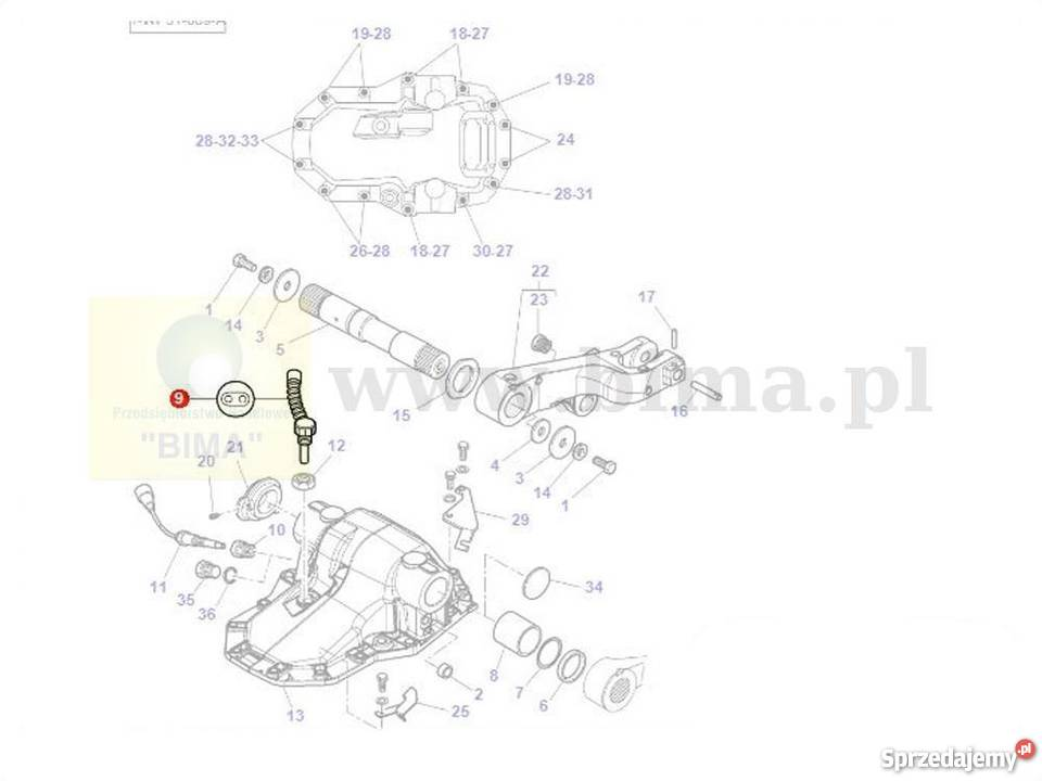 Czujnik prędkości zmiany obrotów wom Massey Ferguson 6445