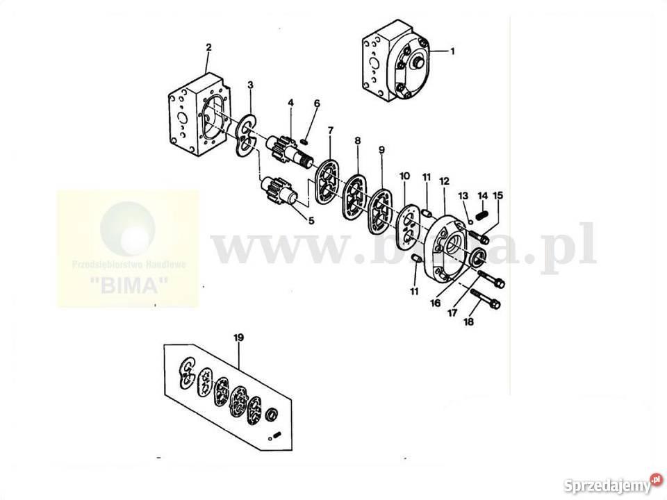 Pompa hydrauliczna MF Massey Ferguson 3690,6110,6120,6130