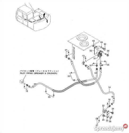 Elektrozawór blok solenoid Zexel CNH 71471892Hitachi EX120