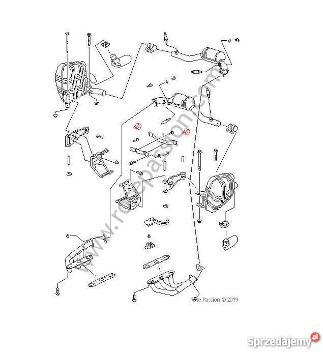 PORSCHE 996 obejma tłumika katalizatora układ wydechowy
