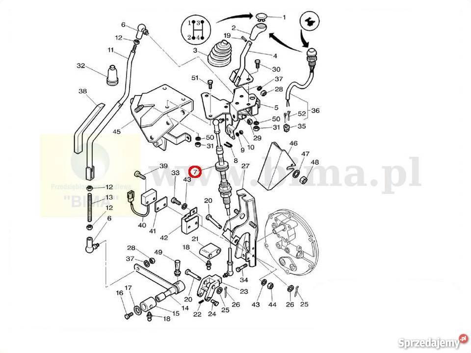 Linka zmiany biegów BIMA5381 MF Massey Ferguson 8240