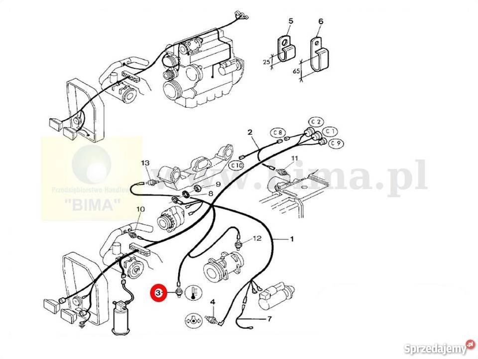 Czujnik ciśnienia oleju BIMA5012 MF Massey Ferguson 3095
