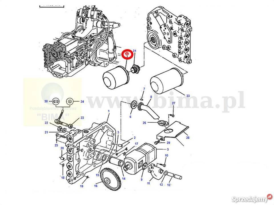 Filtr hydrauliki BIMA075 MF Massey Ferguson 3070,3075,3080
