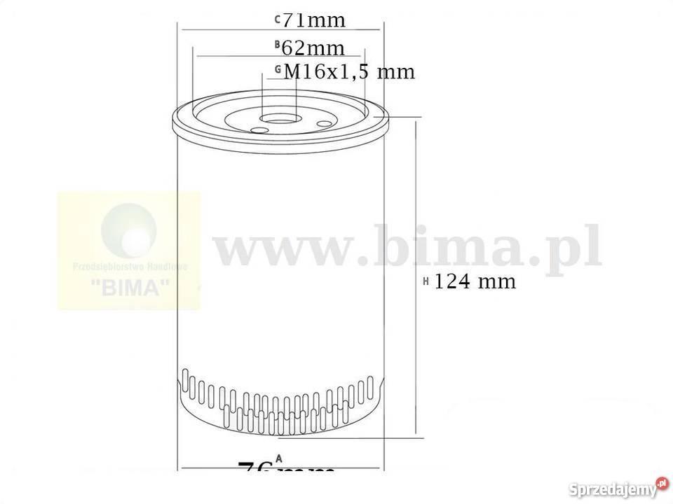 Filtr paliwa BIMA5248 Kombajn CLAAS DOMINATOR 98VX,MEGA
