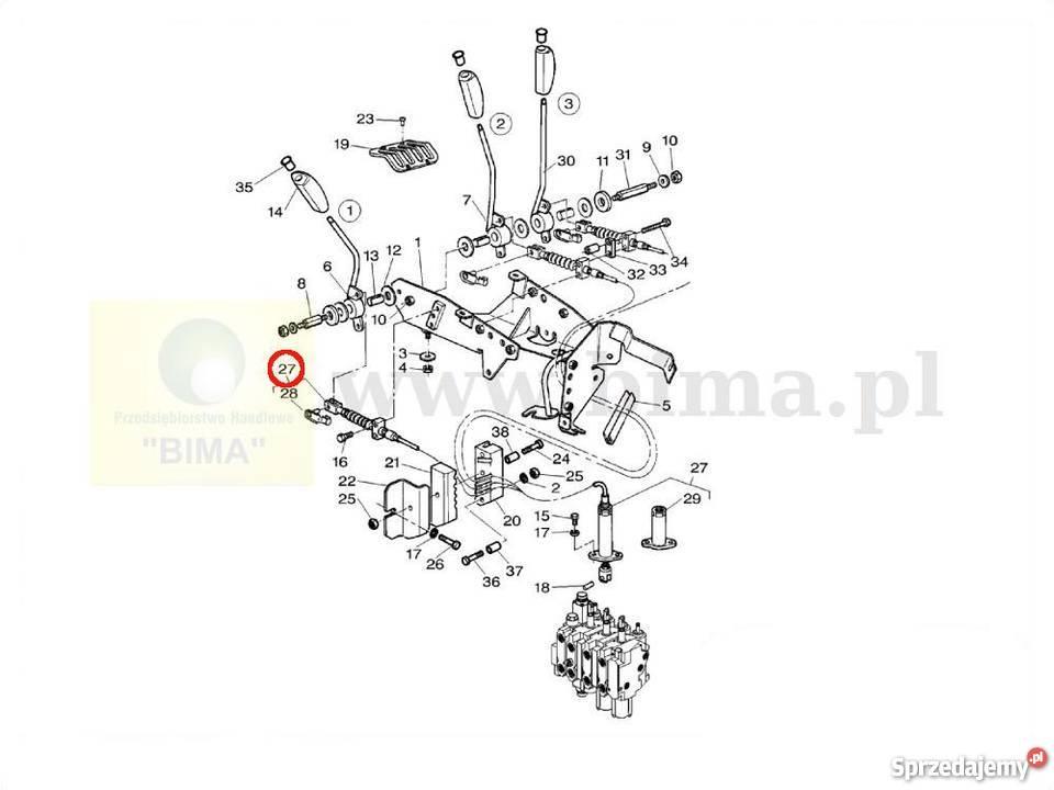 Linka hydrauliki BIMA5071 MF Massey Ferguson 6130,6140