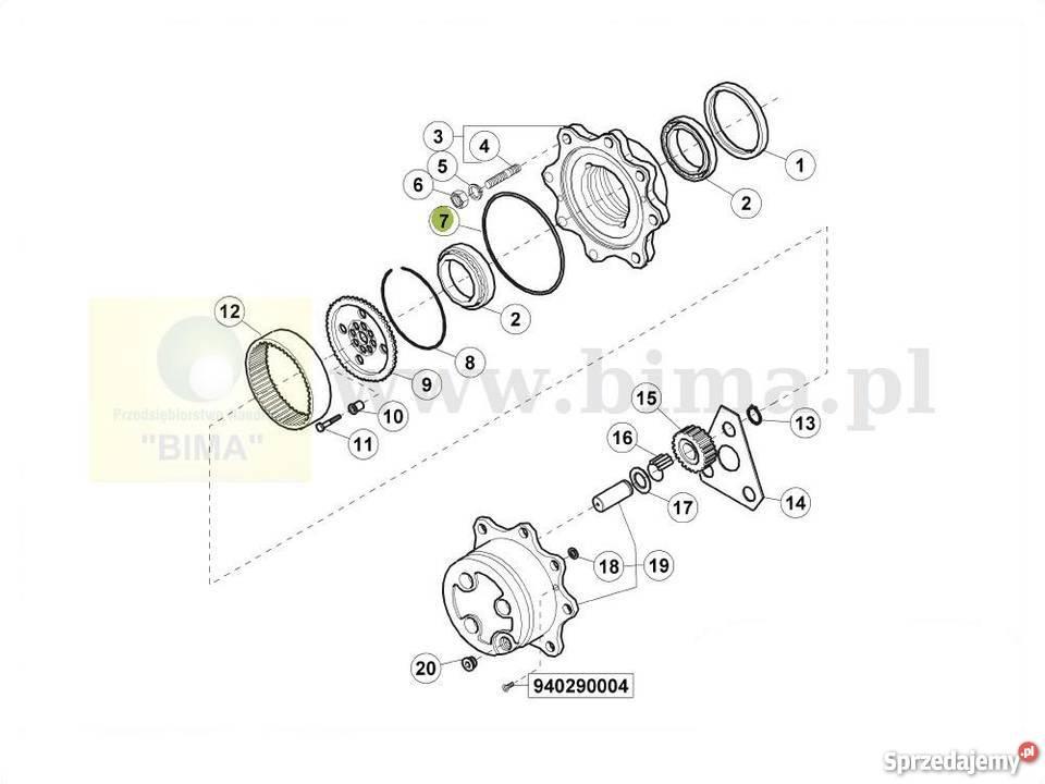 Oring piasty BIMA5075 Renault 55-14,70-14,Ares 540,Ares