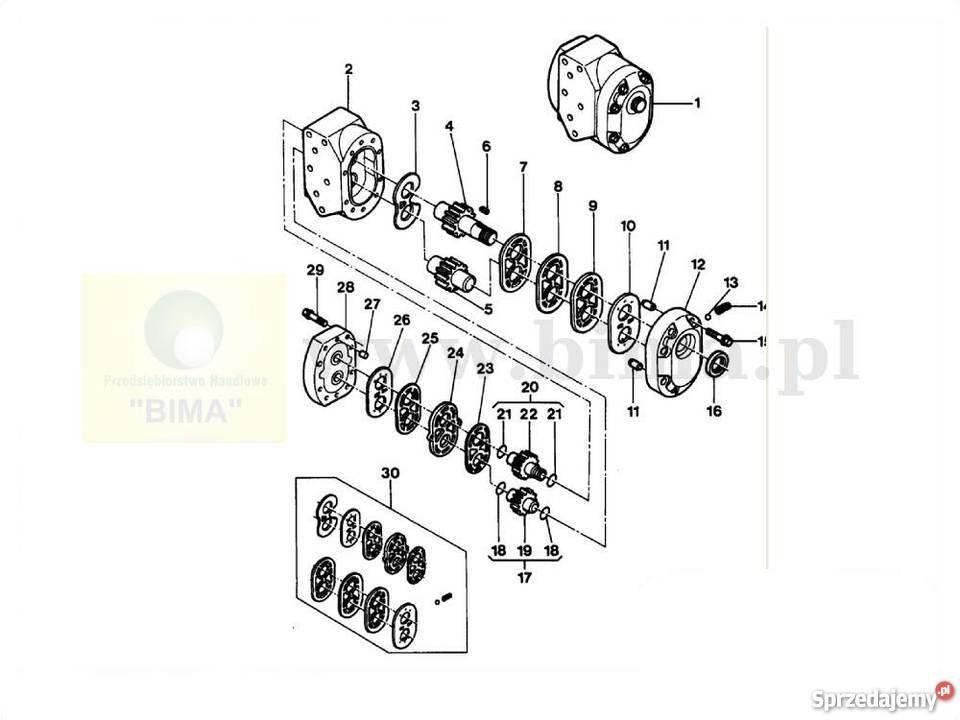 Pompa hydrauliczna BIMA5341 MF Massey Ferguson 8150,8160