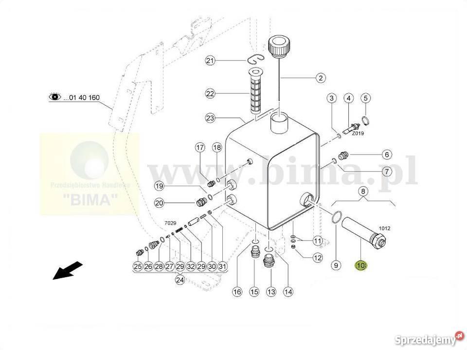 Filtr oleju hydraulicznego BIMA5064 CLAAS Lexion 595,600
