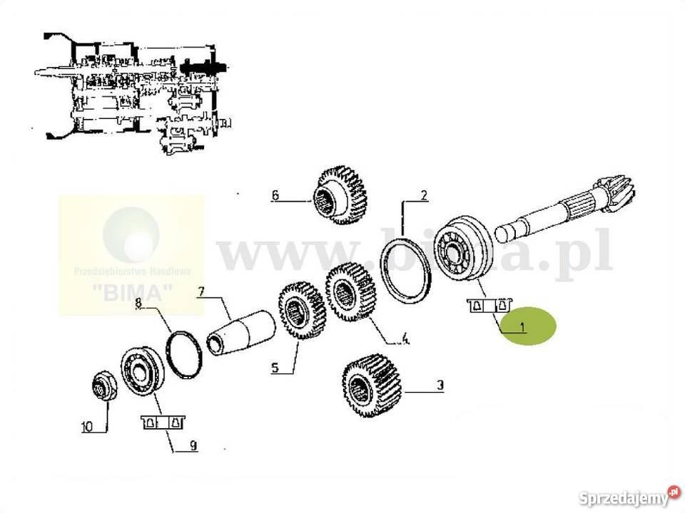 Łożysko wałka ataku BIMA5227 Renault 155-54,103-12,103-14