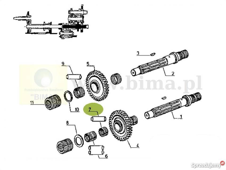 Łożysko igiełkowe części do ciągników Renault Temis
