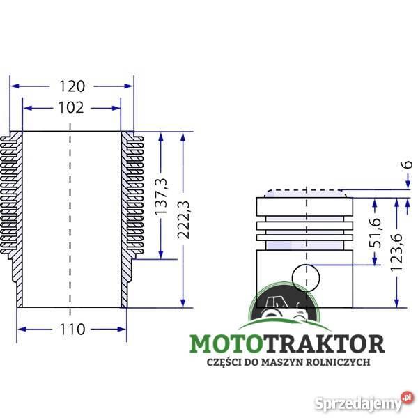 Zestaw naprawczy silnika Deutz Fahr Agroprima Agrostar DX