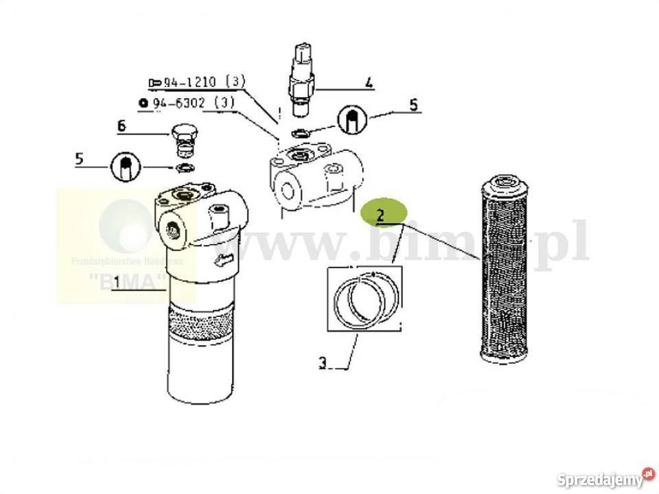 Filtr hydrauliki BIMA076 McCormick CX85,CX85L,CX90,CX95