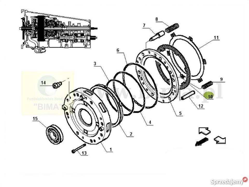 Tarcza sprzęgła mokrego BIMA5314 Renault Ares 620,630,640