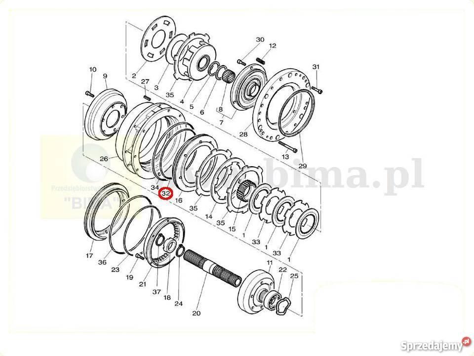 Oring dynashift części ciągników MF Massey Ferguson 7620