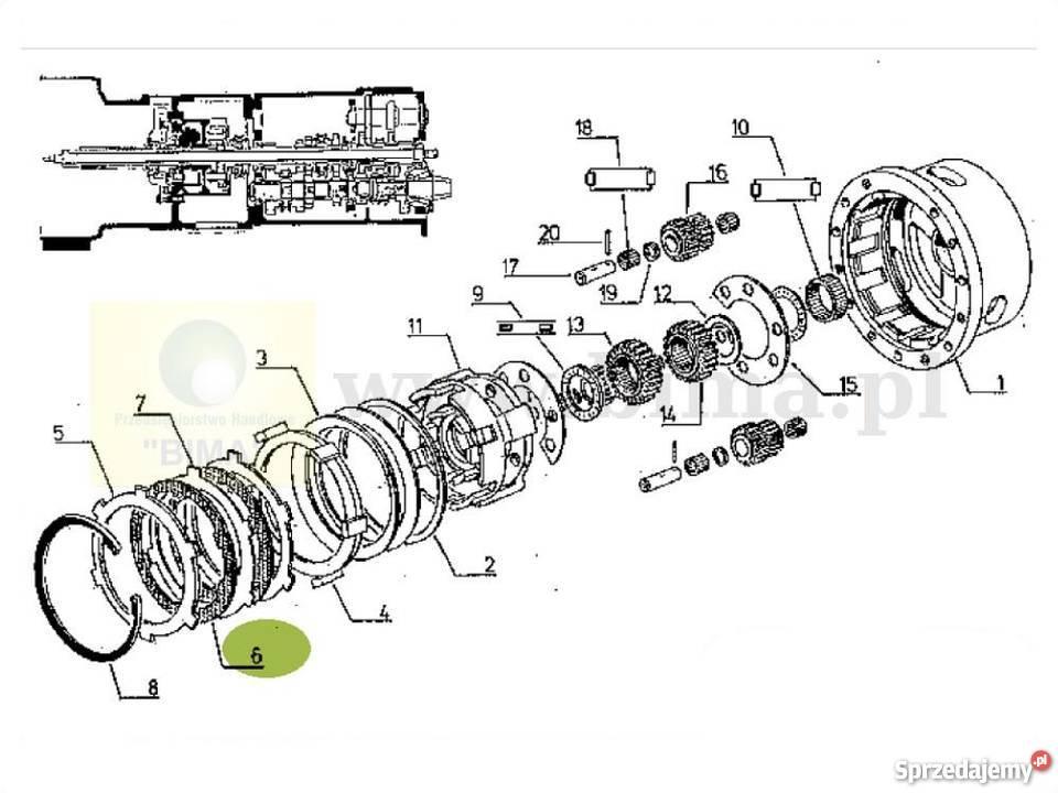 Tarczka cierna skrzyni biegów Renault CLAAS Cergos 345,350