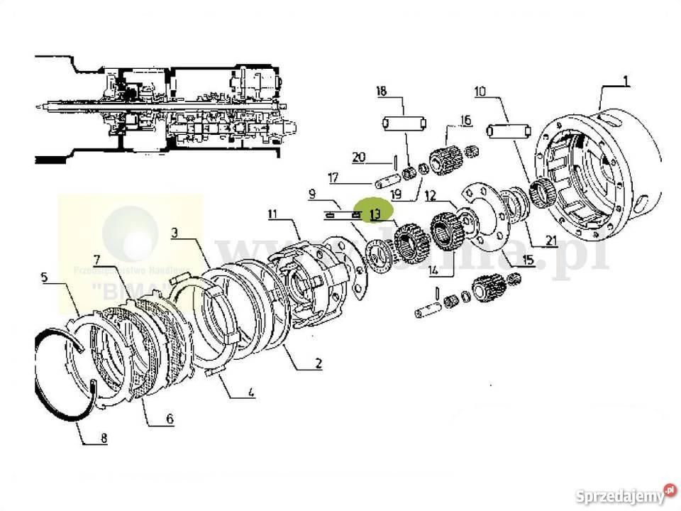 Koło przekładni planetarnej kosza Renault Cergos 330,335