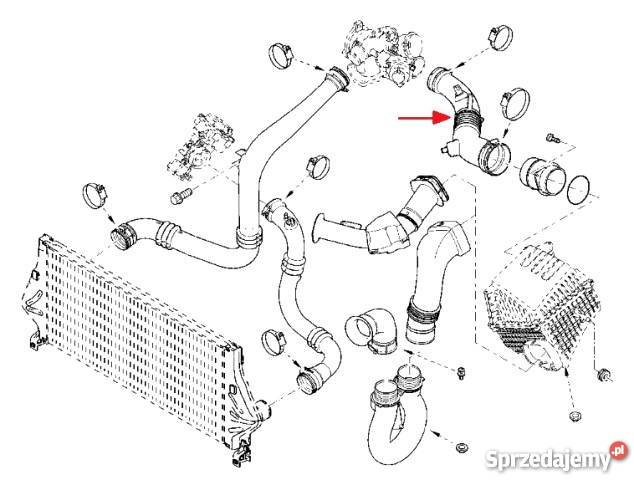 Rura powietrza turbo Laguna II Espace IV 2.0 16V