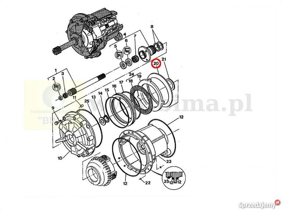 Sprężyna talerzowa BIMA5326 MF Massey Ferguson 6120,6130