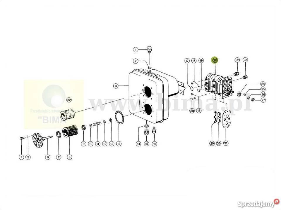 Pompa hydrauliczna CLAAS kombajn DOMINATOR 56,76,86,96,106