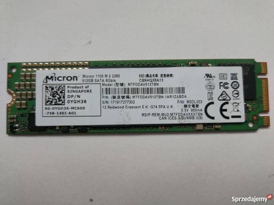 Dysk SSD Micron 1100 na m2 512GB Warszawa - Sprzedajemy.pl