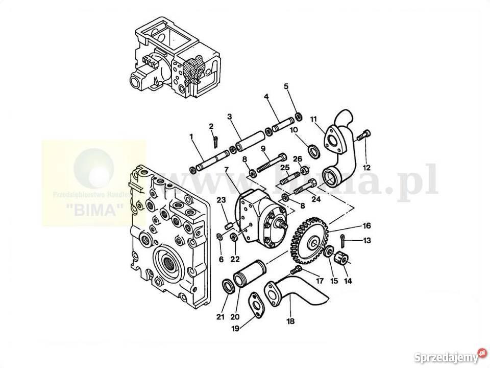 Pompa hydrauliczna części do MF Massey Ferguson 3630,3635