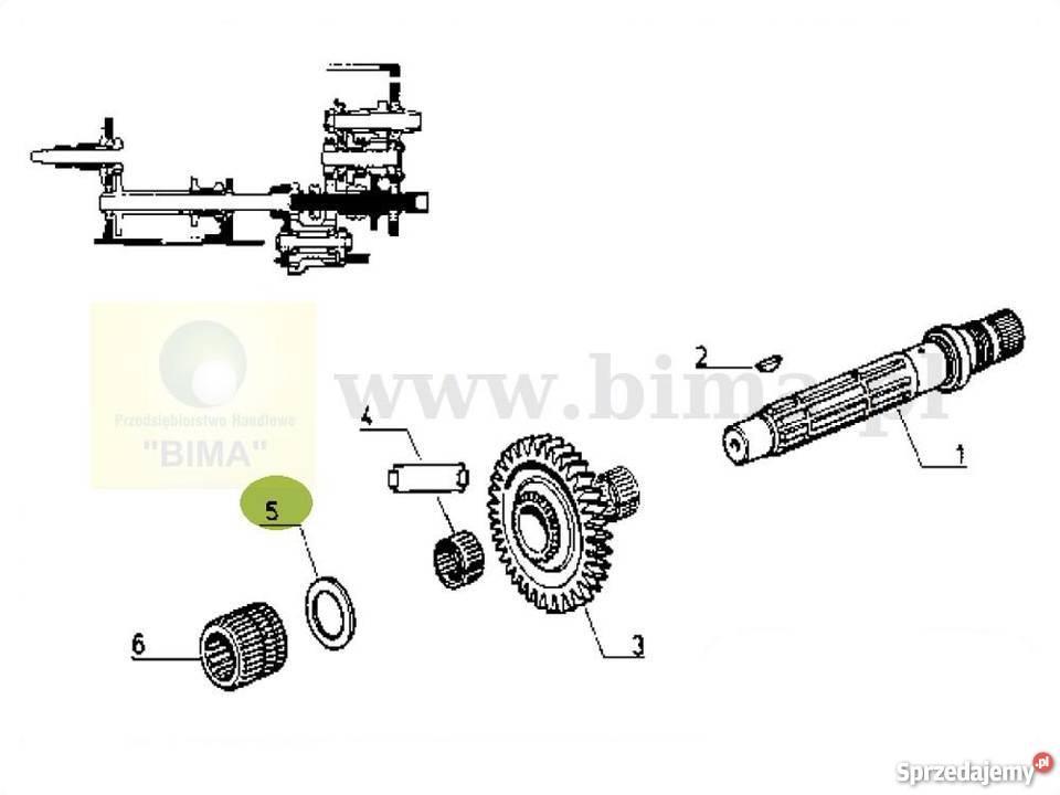 Podkładka wałka wom części do ciągników Renault 106-54