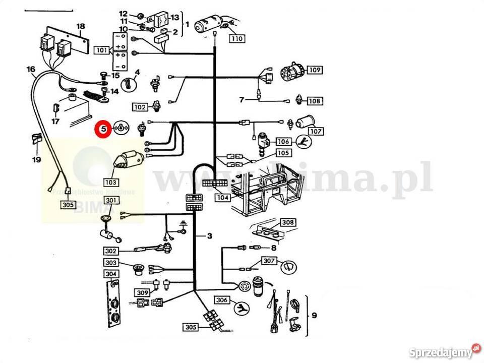 Czujnik ciśnienia oleju MF Massey Ferguson 250,265,275,29