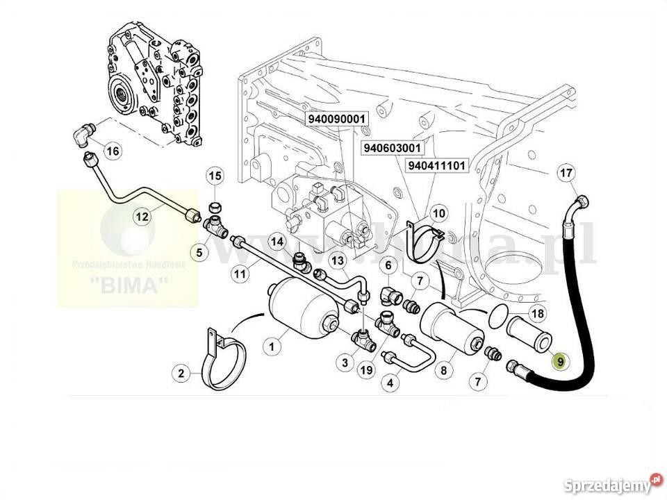 Filtr oleju hydraulicznego Renault CLAAS Ares 620,630,640
