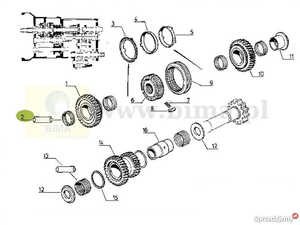 Łożysko igiełkowe skrzyni biegów BIMA5026 Renault 106-54