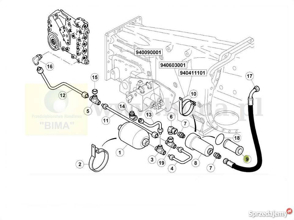 Filtr hydraulki BIMA5268 Renault CLAAS Ares