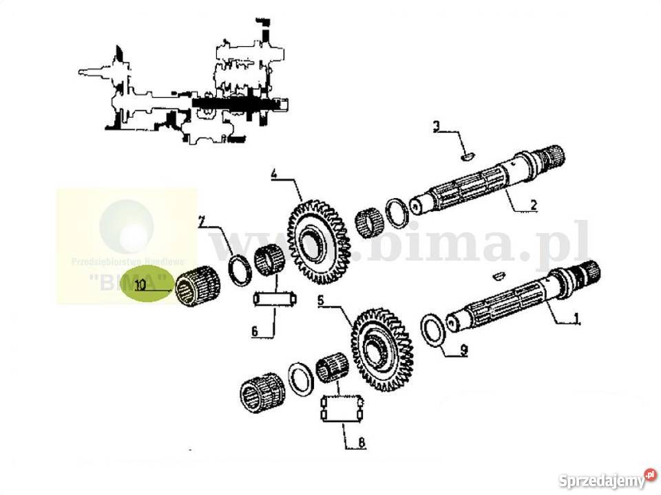 Piasta tuleja koło przesuwne BIMA5218 Renault 103-52